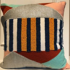 NEW Pier 1 Imports Colorful Beaded Accent Pillow